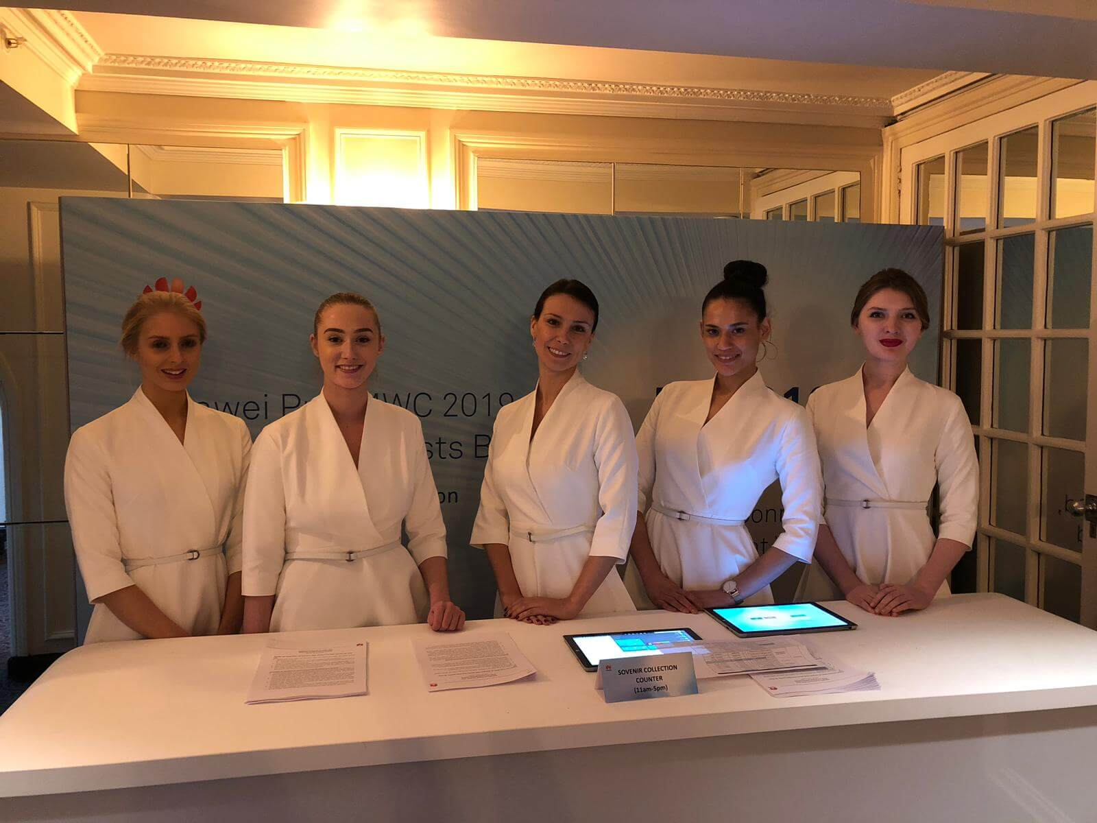 Hostesses Shine At Huawei MWC Event In London
