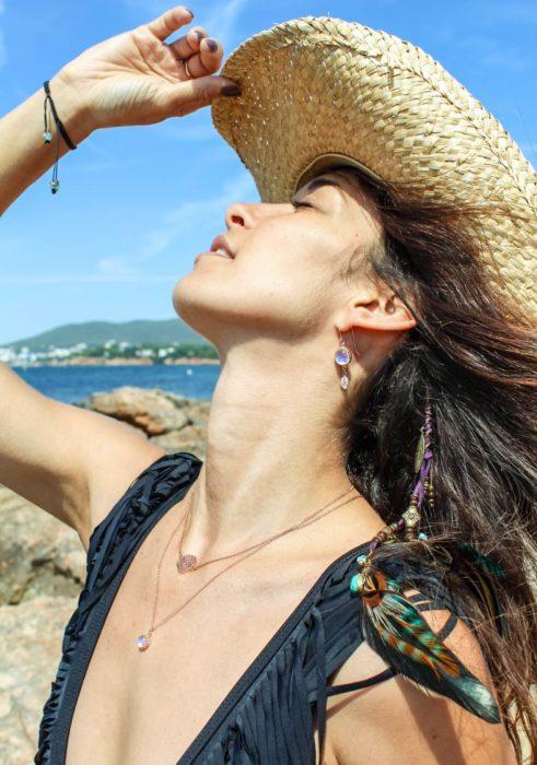 boho buffalo photoshoot in ibiza - female model Ibiza Elpromotions agency