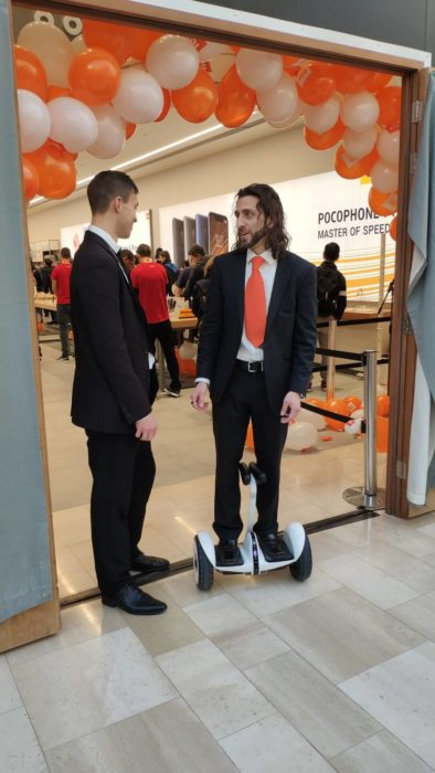 Xiaomi UK Westfield store launch promotional staff