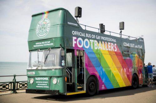 Paddy power at Brighton Pride - bus