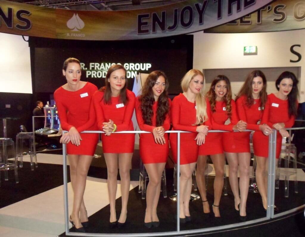 ICE Totally Gaming Hostesses in Uniforms