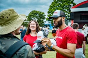 male promotional staff at firestone activation in London