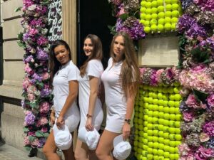Wimbledon tennis promotional staff