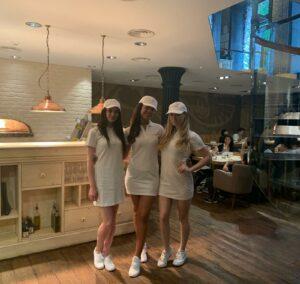 Wimbledon tennis promotional activity at Bocconcino mayfair
