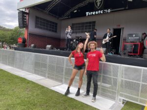 elpromotions agency promotional staff at festival in london
